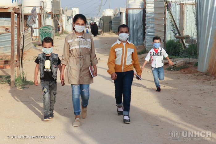 Syrian refugee children return to school at Zaatari refugee camp in Jordan